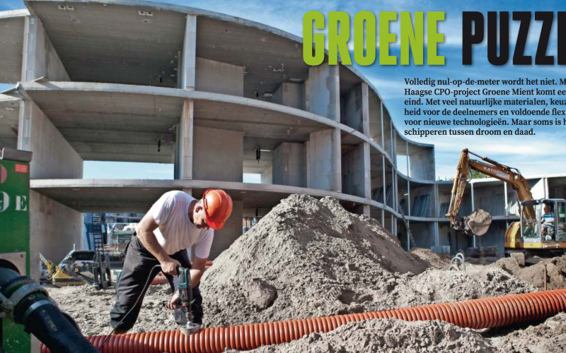 Groene Mient In Het Vakblad Cobouw.